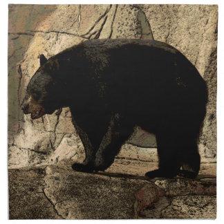 Svart björn (original- konstverk) tygservett