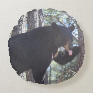 Svart björn rund kudde 9668dc4236784