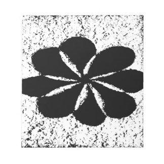 svart blomma anteckningsblock
