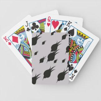 svart blomma i snöflingor spelkort
