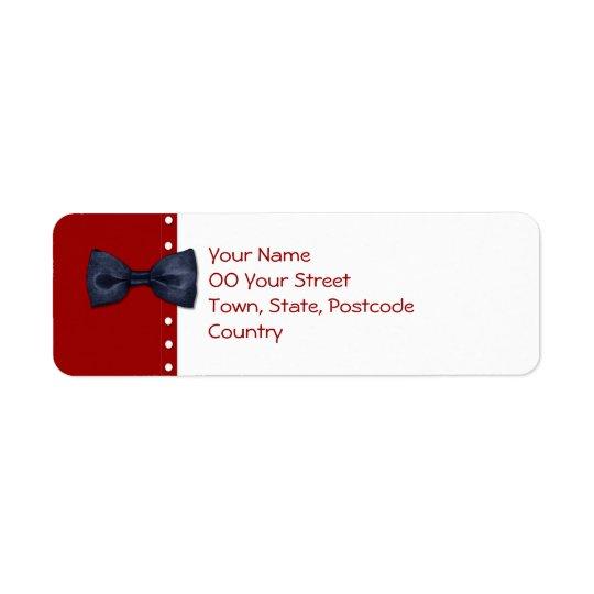 Svart BowTie returadressetikett Returadress Etikett