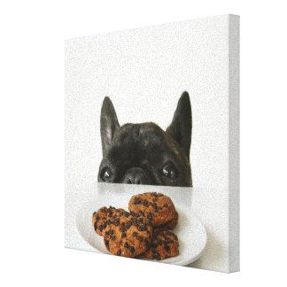 Svart Brindle fransk bulldogg Canvastryck