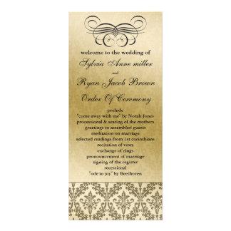 svart bröllopsprogram anpassade ställkort