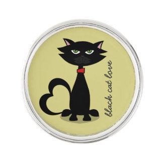 svart chartreuse kattkärlek - rockslagsnål