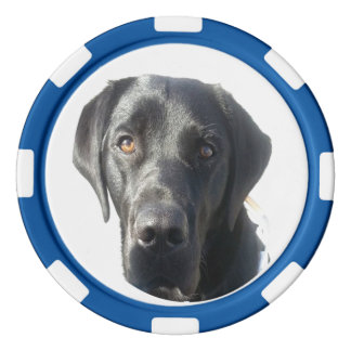 Svart chip för poker för Labrador Retriever Poker Marker