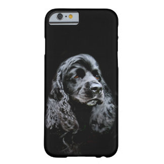 Svart cockerspanielspanielansikte barely there iPhone 6 fodral