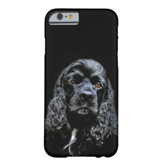 Svart cockerspanielspanielansikte barely there iPhone 6 skal