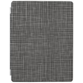 Svart Crosshatch iPad Skydd