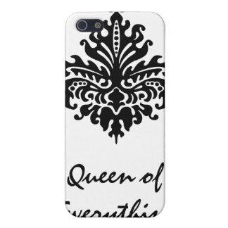 Svart damastast drottning av allt fodral Iphone4 iPhone 5 Cases