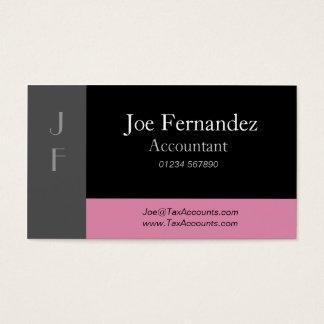 Svart & dammig rosa yrkesmässig visitkort för grå