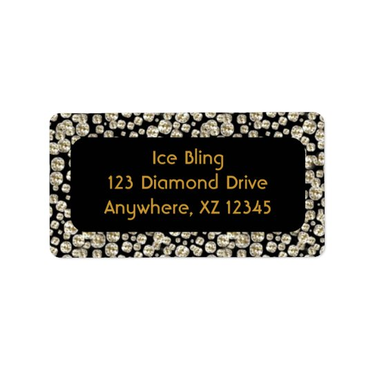 Svart diamanter adressetikett