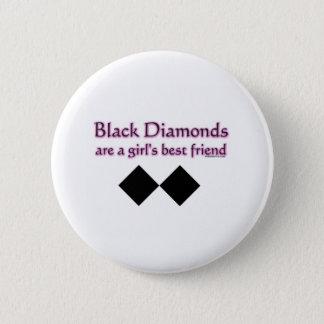 Svart diamanter är en flickabästa vän standard knapp rund 5.7 cm