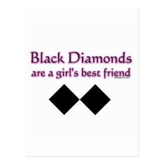 Svart diamanter är en flickabästa vän vykort