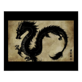 Svart drake affisch