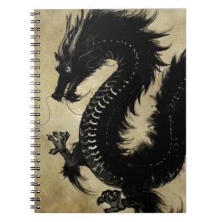 Svart drake anteckningsbok