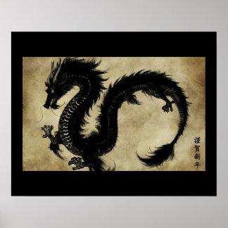 Svart drake poster