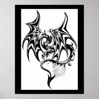 Svart-drake Poster