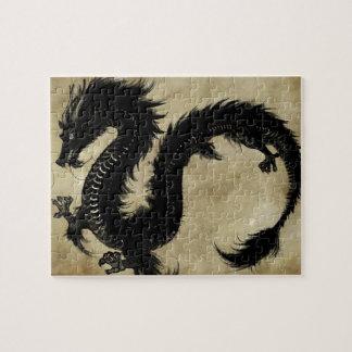 Svart drake pussel