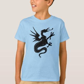 Svart drake t-shirts