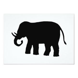 Svart elefant 12,7 x 17,8 cm inbjudningskort