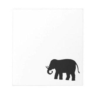 Svart elefant anteckningsblock