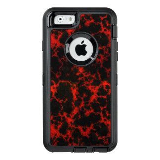 Svart energi som är röd och, flammar OtterBox iPhone 6/6s fodral