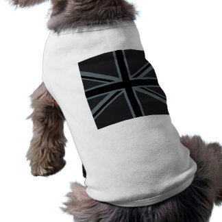 Svart facklig jackflaggadesign hundtröja