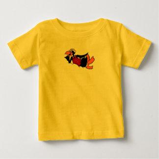 Svart fågel för Tecknad Tshirts