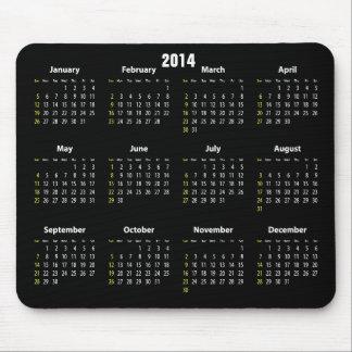 svart färg för kalender 2014 musmatta