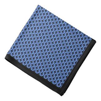 Svart Fleur-de-lis, blåklintblått, svart gräns Bandana