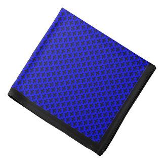Svart Fleur-de-lis på blått, svart gräns Scarf