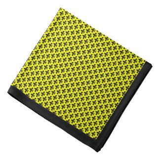 Svart Fleur-de-lis på gult, svart gräns Scarf