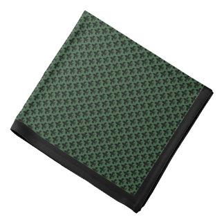 Svart Fleur-de-lis på jägaregrönt, svart gräns Bandana