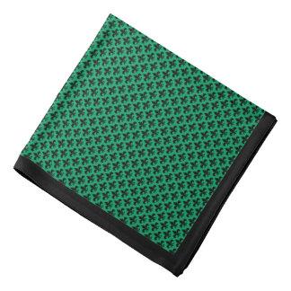 Svart Fleur-de-lis på Shamrockgrönt, svart gräns Scarf