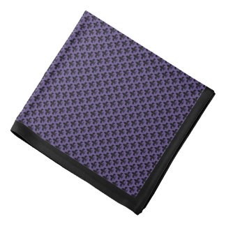 Svart Fleur-de-lis, ultraviolet, svart gräns Scarf