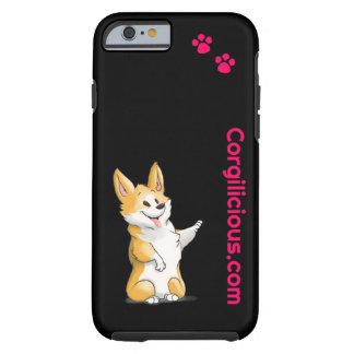 Svart fodral för CorgiiPhone 6 Tough iPhone 6 Skal