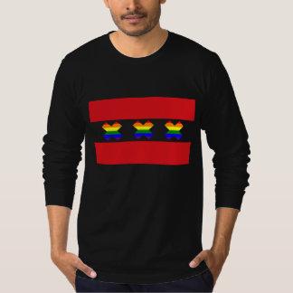 Svart för Amsterdam gay prideregnbåge X T-shirt