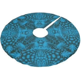 Svart & för blåttvintageKaleidoscope för träd kjol Julgransmatta Borstad Polyester