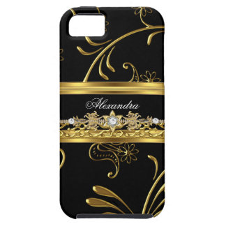 svart för blommigt för fodral för iPhone 5 elegant iPhone 5 Case-Mate Skydd