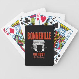 svart för bonneville salt lägenhettävla spelkort