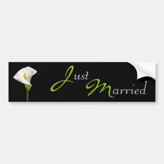 Svart för bröllopCala lilja Bildekal