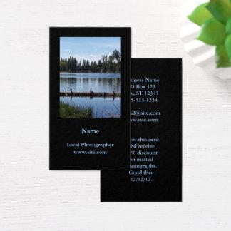 Svart för fotografiporträttlodrät visitkort