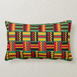 Svart för grönt för gult för afrikansk lumbarkudde