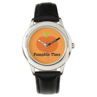 Svart för grönt för klockapumpaTime orange Armbandsur
