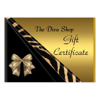 Svart för guld för presentkortkort elegant set av breda visitkort