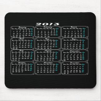 Svart för kalender 2013 musmattor