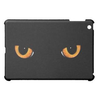 Svart för katt för svart kattögon svart iPad mini mobil skydd