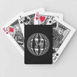 Svart för kort för Orbkrom svart leka Spelkort