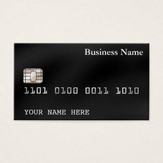 Svart för kreditkortstilVISITKORT (2-sided) Visitkort
