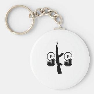 Svart för logotyp för SKS-anfallgevär Rund Nyckelring